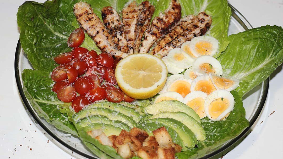 Klassieke caesar salad