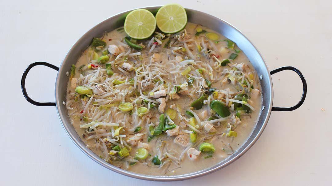 Thaise kokossoep met kip
