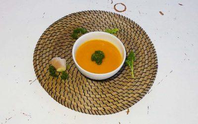 Wortel-gember soep