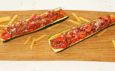 Courgettebootjes bolognese