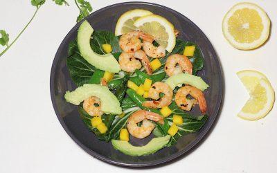 Garnalen-mango salade