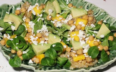 Kikkererwtensalade met mango en avocado