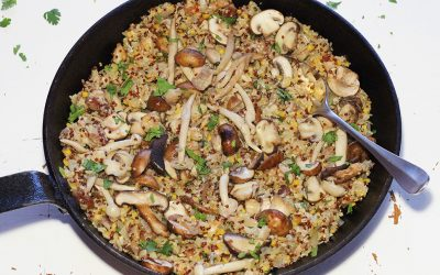Quinoa-risotto met paddenstoelen