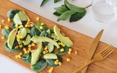 Avocado-mais salade