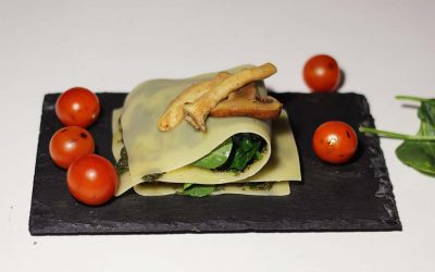 Open truffel lasagne