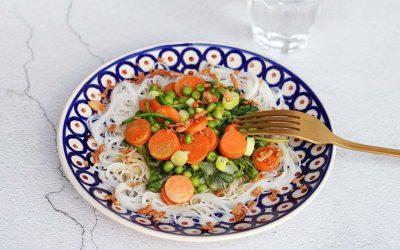 Groene mihoen curry