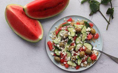 Watermeloensalade met feta