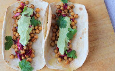 Spicy kikkererwten taco's