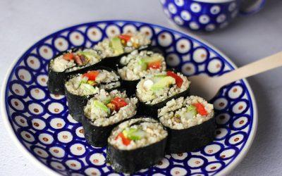 Sushi van bloemkoolrijst