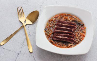 Ramen met biefstuk