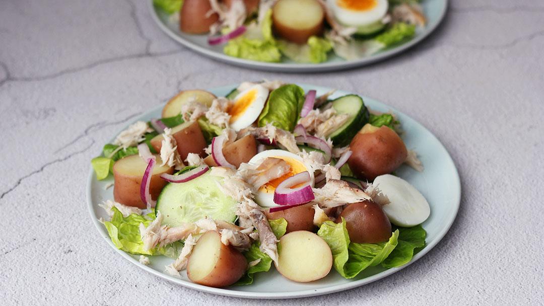 3. Aardappelsalade met makreel
