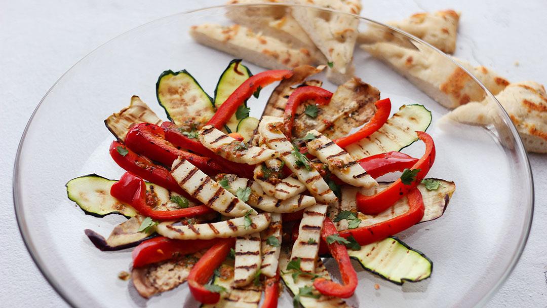 4. Gegrilde groenten en halloumi