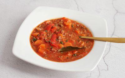 Goulash soep met gehakt