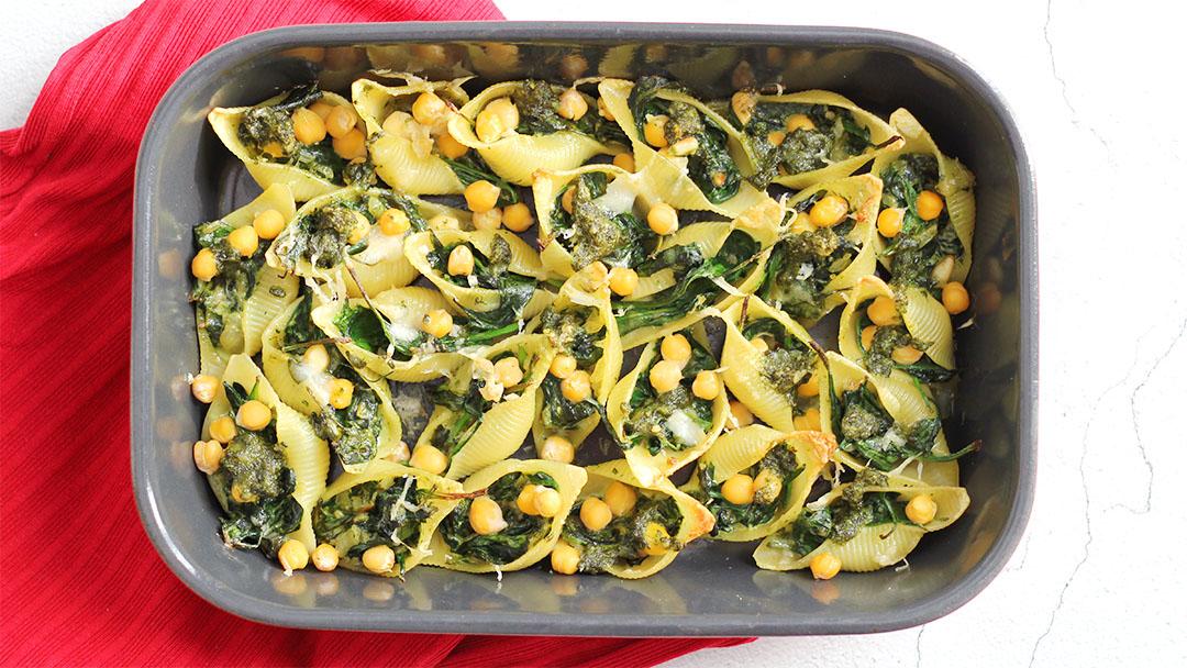 5. Gevulde pastaschelpen