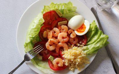Caesar salad met garnalen