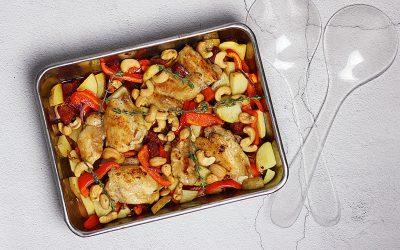 Kip-chorizo ovenschotel