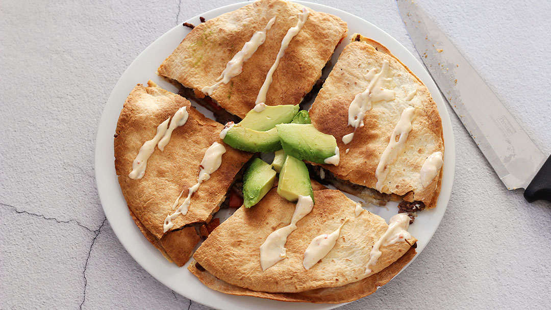 2. Gehakt quesadilla's
