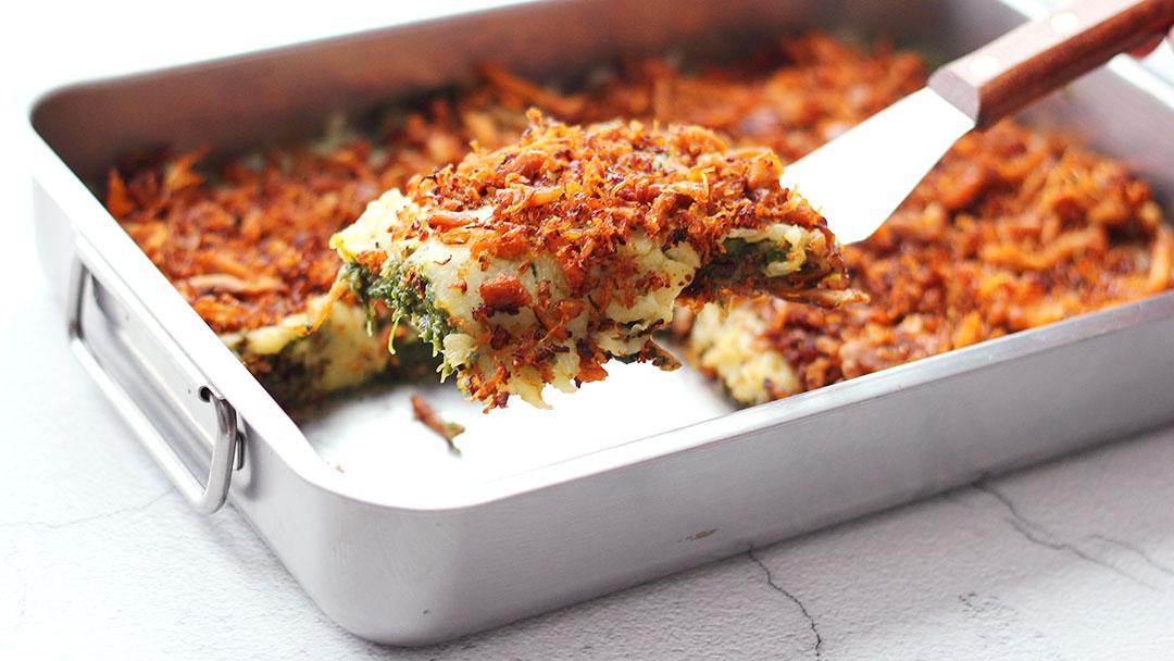 5. Pulled chicken-zoete aardappel ovenschotel