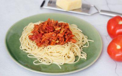 Spaghetti vegetarische bolognese