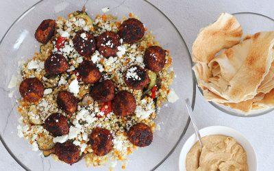 Parelcouscous met falafel