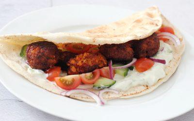 Falafel op Libanees brood