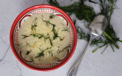 Bloemkoolsoep met kaas