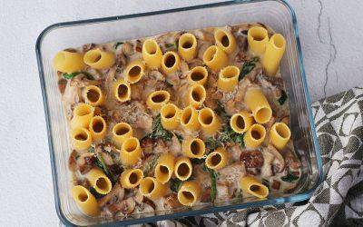 Pasta gevuld met paddenstoelen