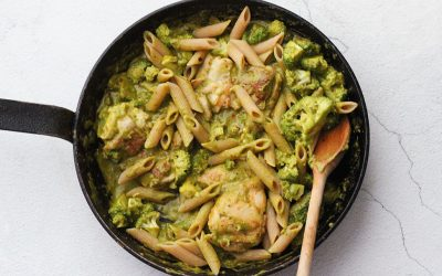 Pasta kip-pesto-broccoli