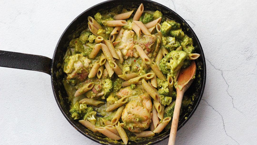Pasta kip-pesto-broccoli