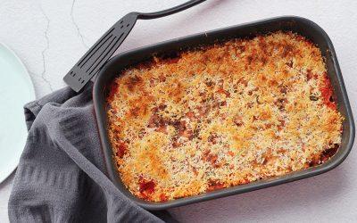 Macaroni ovenschotel met krokante korst