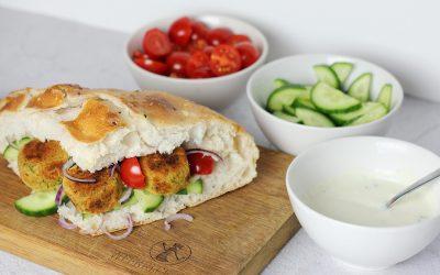 Zelfgemaakte vegan falafel